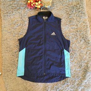 Adidas Vented Navy Running Vest. Size Medium.